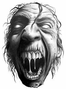 Details about Joke Prank Fun Scary - Evil Screaming Face - Car or Wall  Decal Sticker