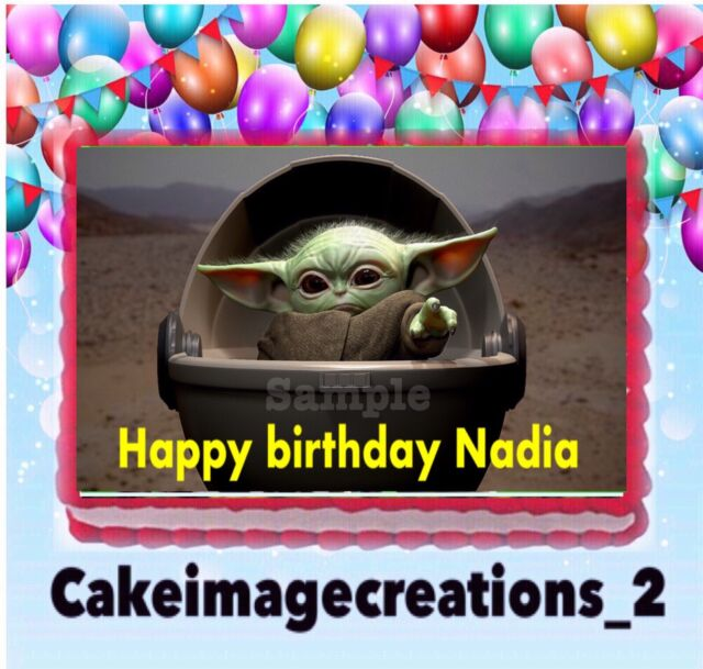 Star Wars 70/'s Vintage Edible Birthday Cake Topper Frosting Icing 1//4 Sheet