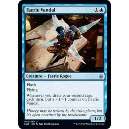 4x Faerie Vandal x4 Lot Throne of Eldraine Magic the Gathering MTG
