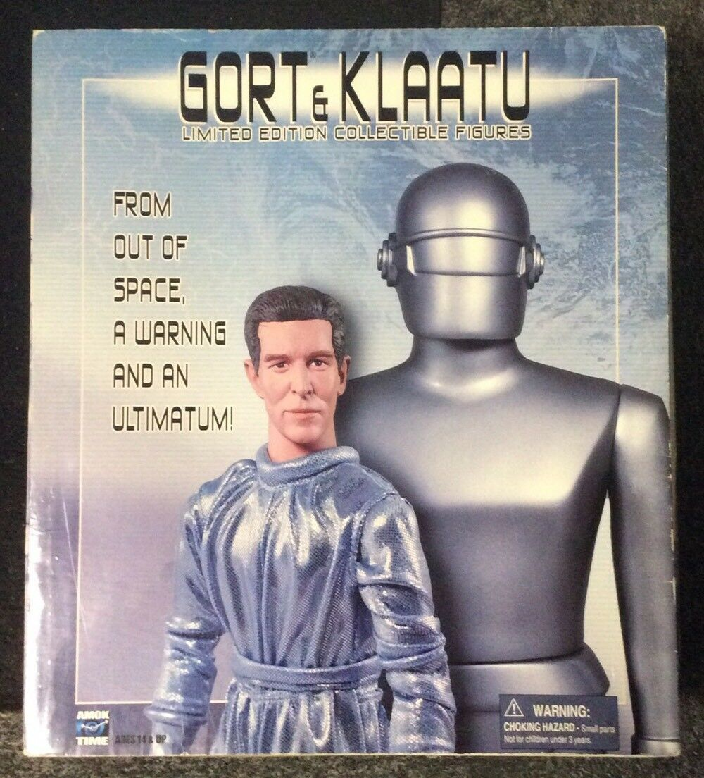 GORT & KLAATU LIMITED EDITION FIGURES FROM AMOK TIME SEALED NEVER OPENED