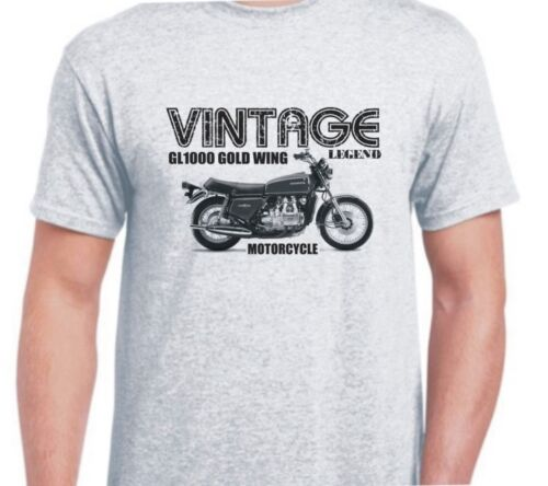 HONDA GL1000 Gold Wing Inspiré Vintage Moto Classique Vélo shirt tshirt