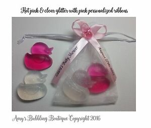 rubber duck soap baby shower favors personalized ribbons amp bags pack