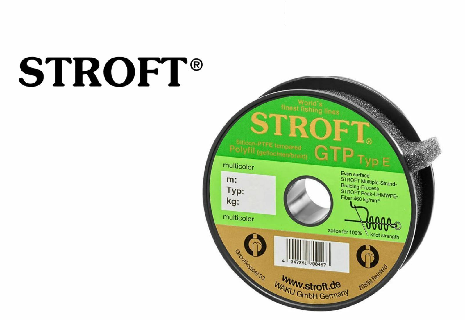STROFT GTP Type E2 Polyfilament Braided Line  Grey 150m   5,75kg  fishional store for sale