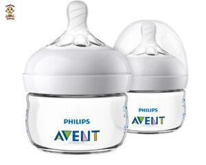 Avent Natural Feeding Bottle, New Spiral Teats Design, 4 oz, 2 pack, BPA Free