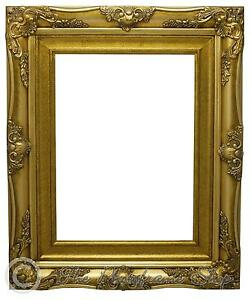 4-034-Wide-Gold-Shabby-amp-Chic-Ornate-Vintage-Picture-Frame-10-034-x8-034-20-034-x16-034-RIM-ONL