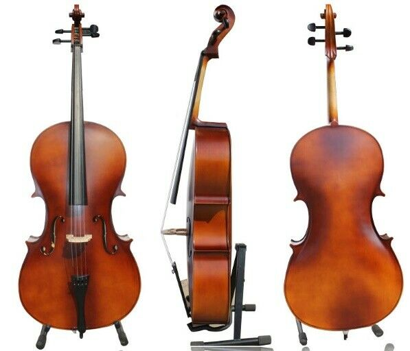 D21 Premium Wooden Cello Suit Outfit With Bag Bow and Rosin Full Größe 4 4 Y
