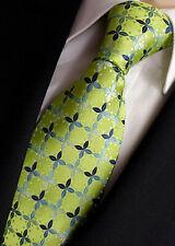 Anlass- Geschenk blau mit Blättermuster NEU Czako Herren Business Krawatte