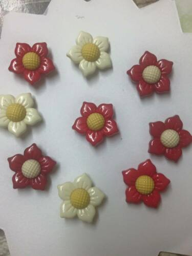 4769 floral festive  buttons FAST POST OUT CHRISTMAS Rose  Poinsettia Flower