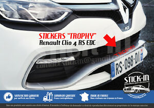 Renault-Clio-4-RS-EDC-TROPHY-220-Stickers-Autocollants-Parechoc-Front-Bumper