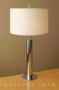MID-CENTURY-MODERN-NESSEN-CHROME-DESK-LAMP-PANTON-ATOMIC-1960S-VTG-AFTER-KOVACS