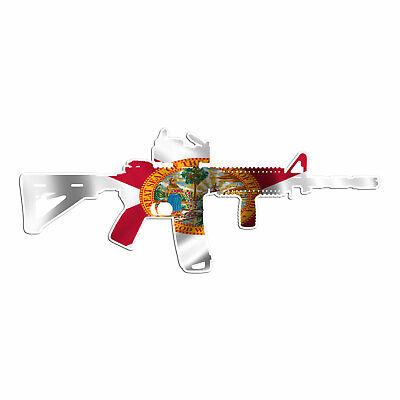 AR 15 Rifle Gun Firearm With Scope Vinyl Decal Sticker New York Flag