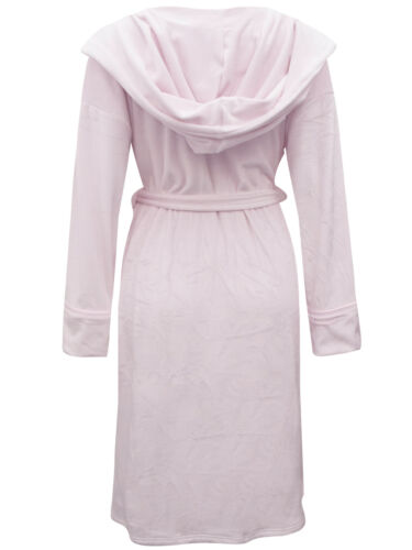 EX M/&S LADIES WOMENS Super Soft Hooded Wrap Dressing Gown pink Size 8 to 22