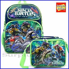 "Ninja Turtles 16"" Large School Backpack and Lunch Bag 2pc Set"