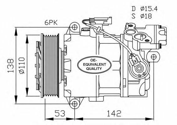 Compressore Climatizzatore NRF 32463 BMW