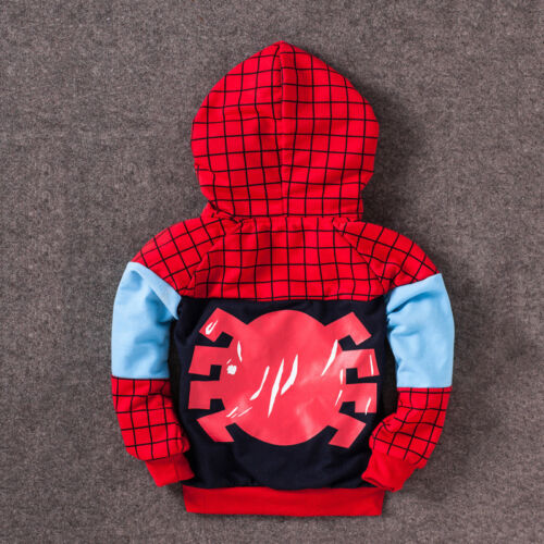 Spiderman Kids Baby Boys Tracksuit Hoodie Joggers Sweatshirt T-Shirt Top Outfits