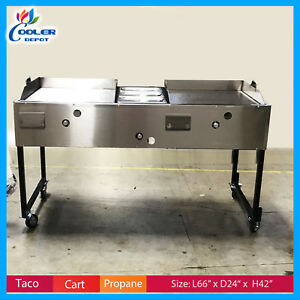 66 Quot Taco Carts Hot Dog Burger Fries Comal Commercial