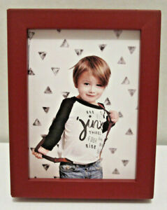 Red-Wood-Picture-Photo-Frame-2-5-034-X-3-5-034-Or-2-034-X3-034-with-Mat