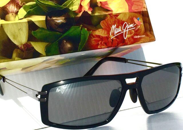 300459626c97 Maui Jim Malihini 702-02 Black Sunglasses Polarized Neutral Gray Lens 100 UV