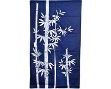 "Japanese 60"" Navy Indigo TAKE Bamboo Doorway Room Divider Curtain Tapestry Noren"