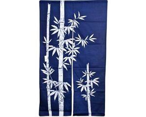 Japanese-60-034-Navy-Indigo-TAKE-Bamboo-Doorway-Room-Divider-Curtain-Tapestry-Noren