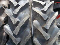 (2) 11.2x28 Ford John Deere Tractor Tires W/tubes & (2) 550x16 3 Rib W/tubes