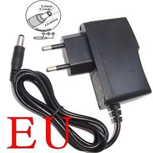 EU Plug AC//DC 12V 400mA 0.4A Power Supply Cord Adapter 5.5mm x 2.1mm