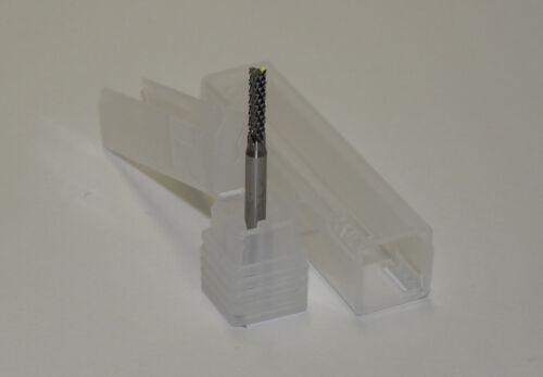 3,175 mm Schaft 2,6 mm VHM-Fräser Diamantverzahnt