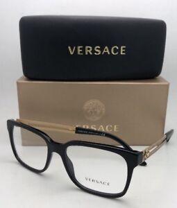 4a036d07085f New VERSACE Rx-able Eyeglasses VE 3218 GB1 53-17 140 Black Frames w ...