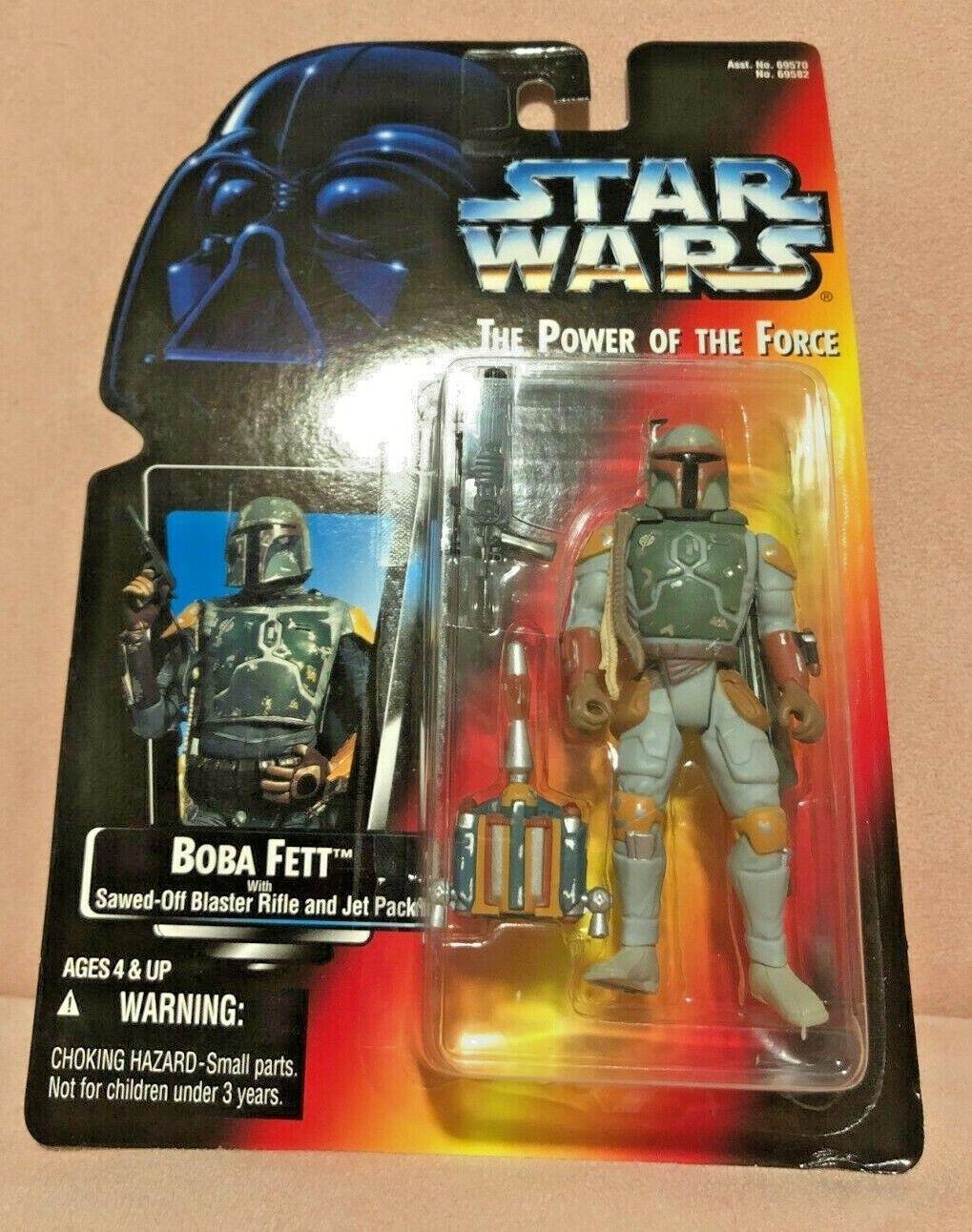 Star Wars Power of the Force Kenner Boba Fett Action Figure NRFP
