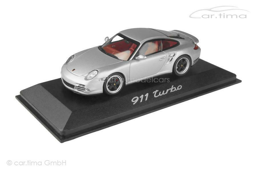 Porsche 911 (997 II) Turbo S - GT-silber   Interieur rot - Turbo History Collect