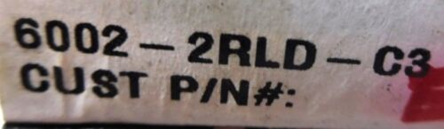PEER DOUBLE SEALED BEARING 6002-2RLD-C3 LOT OF 4 15MM ID 32MM OD 9MM W