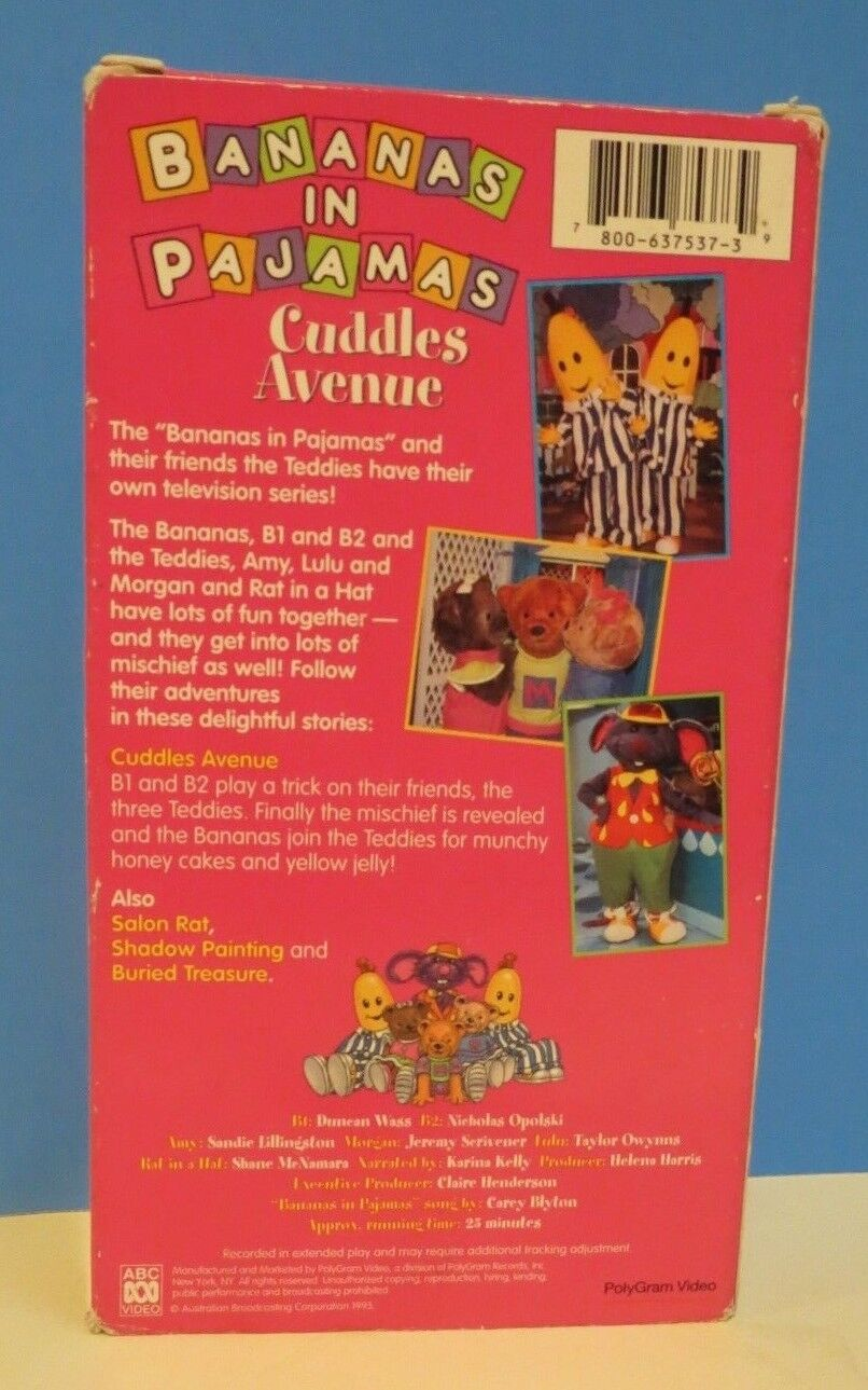 Bananas In Pajamas Cuddles Avenue Vhs 1996 Ebay Cuddle Me Elmo Look And Find Stock Photo