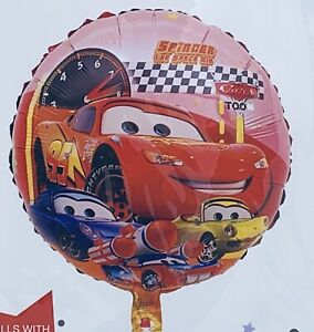 Disney-CARS-McQueen-Storm-Happy-Birthday-18-034-Round-Foil-HELIUM-BALLOON-Party