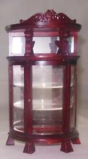 VINTAGE VICTORIAN CURIO CABINET MAHOGANY #759 DOLL HOUSE FURNITURE MINIATURES