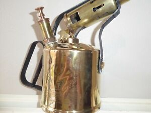 VINTAGE-PRIMUS-NO-633-034-AETNA-034-BRASS-PARAFFIN-BLOW-TORCH-LAMP-MADE-IN-SWEDEN
