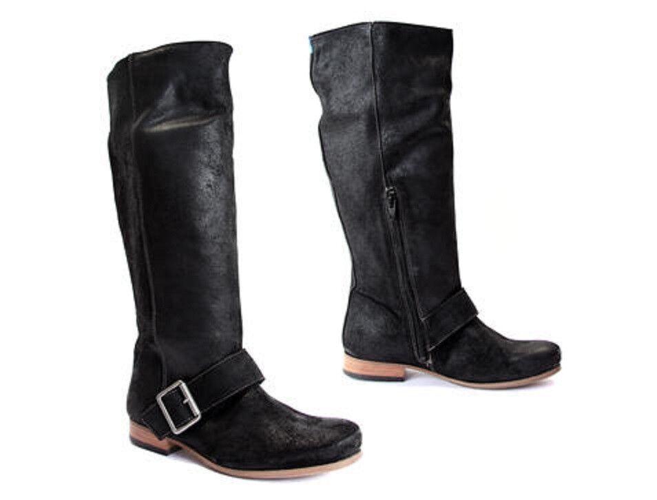 John fluevog Zapatos botas Negro Knee High radios PRI PRI PRI Half Zip plana 10  Todo en alta calidad y bajo precio.