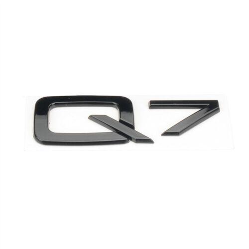 Gloss Black Rear Trunk Lid Tailgate Lettering Label Q7 Badge Emblem For AUDI Q7