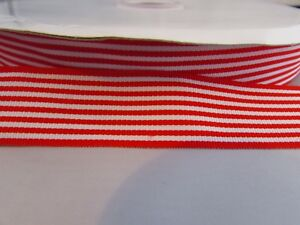 25mm Grosgrain Blue and White Chevron Stripe Ribbon in 1m 10m and 25m 5m