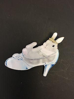 Zapatos de tacón alto Bunny en vidrio Cinderella De Tacón Alto Posh Princess Funky peculiar Broche