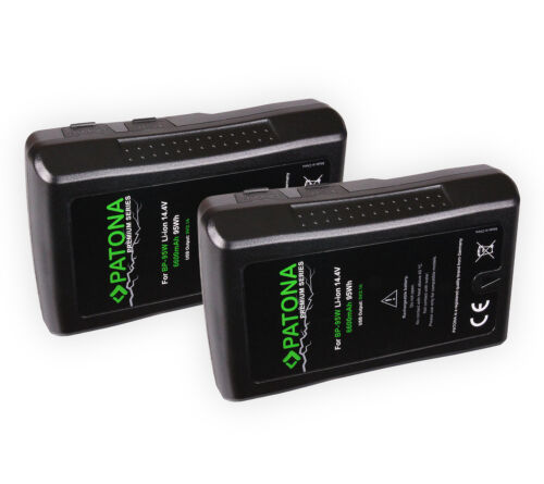 Batería PREMIUM 2x Patona V-Mount 95Wh 14,4V 6600mAh Para Sony BP-95WS D Grifo de salida