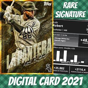 Topps Bunt 20 Luis Robert Nicknames Hold Signature S/2 2021 Digital Card