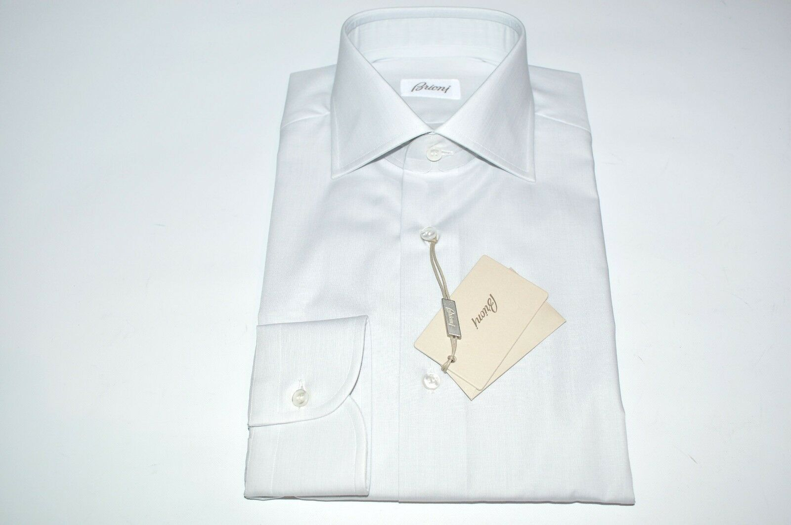 NEW  BRIONI Dress SHIRT 100% Cotton Size 16 Us 41 Eu (Store cod FE3)