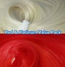 Platinum & Red XL 4oz 2 Color Value Pak Nylon Hair Reroot Monster High Barbie
