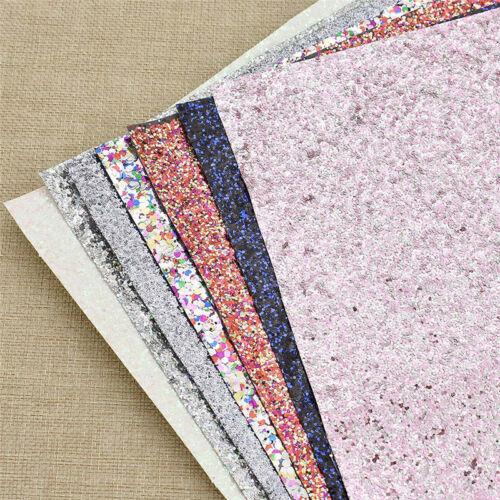 29x21cm Shiny Glitter Fabric Chunky PU Leather DIY Fabric Bag Bow Accessries
