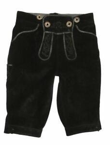so-suess-Kinder-Trachten-Kniebund-LEDERHOSE-Trachtenhose-in-schwarz-ca-110