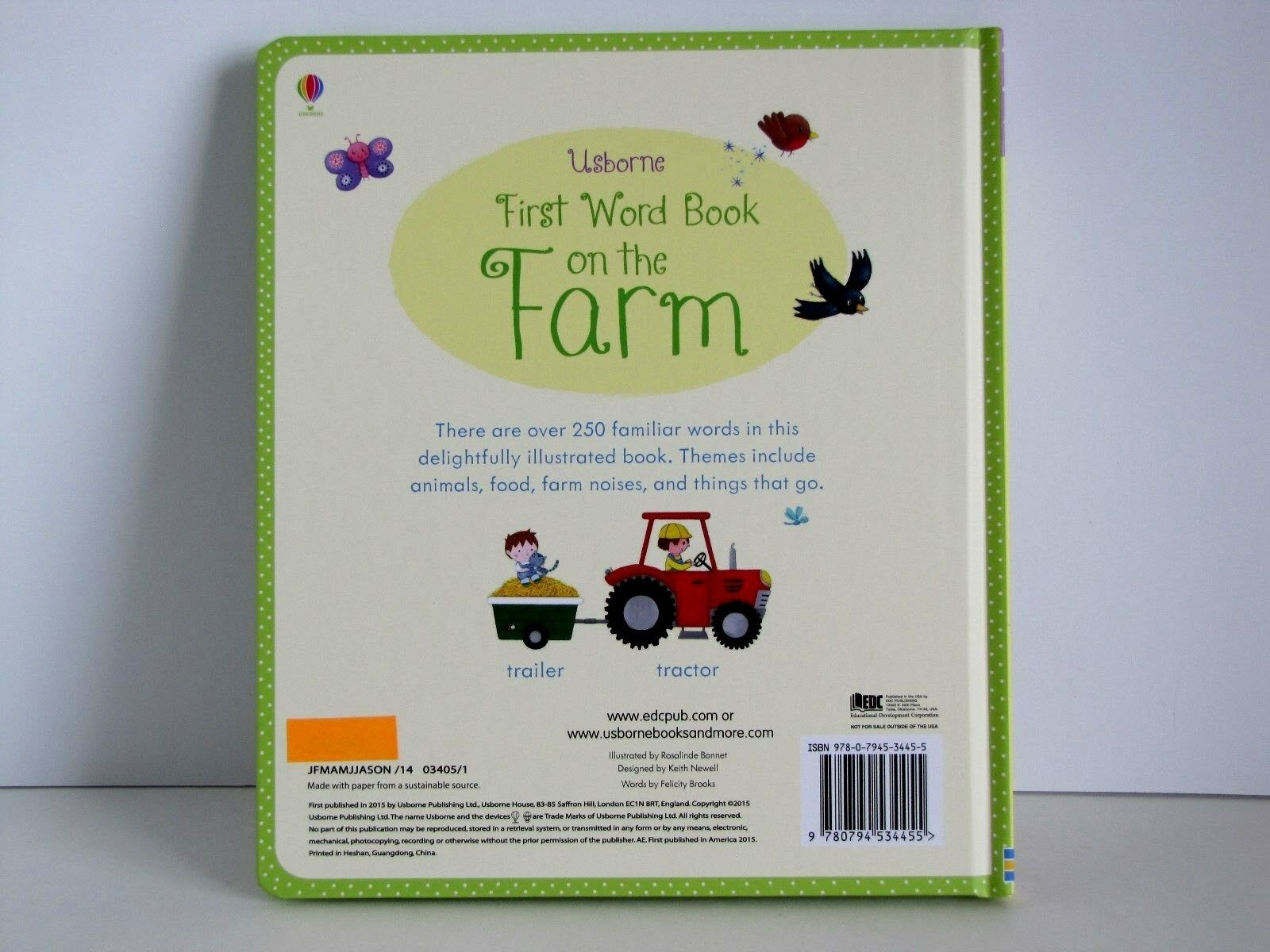My First Word Bks Book On The Farm By Felicity Brooks Words 2015 Hardcover Ebay
