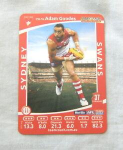 2012-SYDNEY-SWANS-WEETBIX-AFL-CAPTAIN-CARD-ADAM-GOODES
