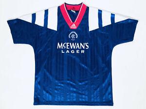 Rangers *Mint Condition* Home Adult L Shirt 1992 - 1994 Adidas / McEwan´s