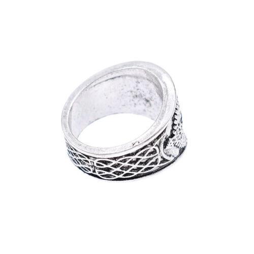 Viking Valknut Ring Bär Kralle//Schloss//Kompass//Reisen 1x Retro Wikinger Geschenk