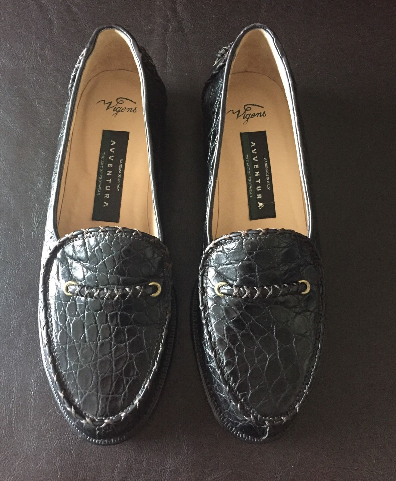 Avventura Vigens nero Crocodile Men's Loafers scarpe